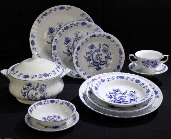 Bosandwife vajilla espa ola de porcelana fina opci n 1 - Vajilla de porcelana ...