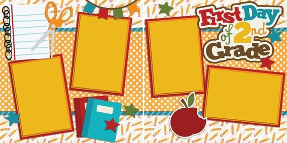 FIRST DAY 6TH GRADE EZ Layout 2221 Premade Scrapbook Pages