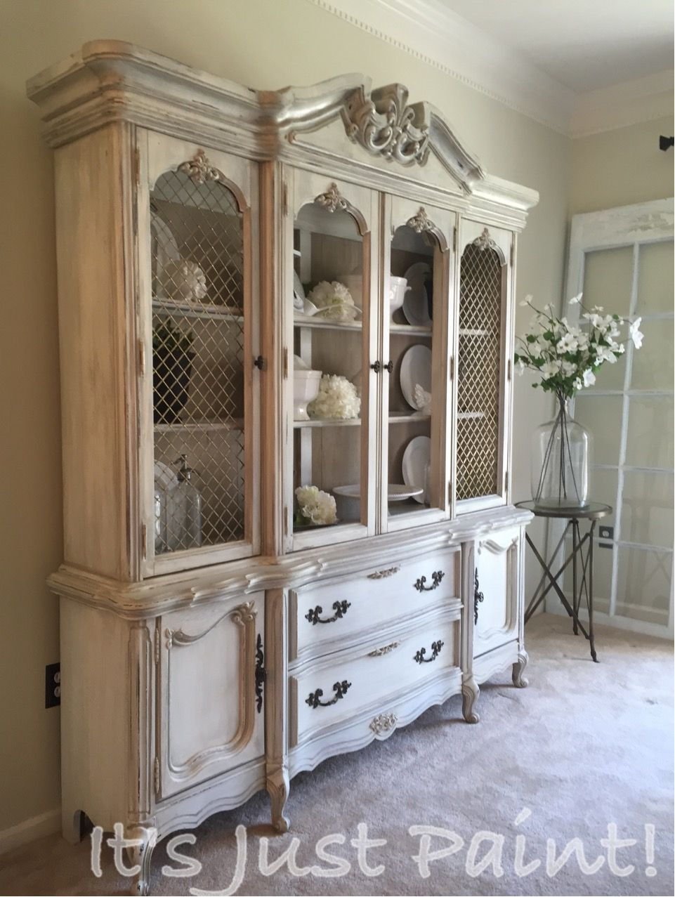 hutch numbers after cabinet before painted china closet turned and