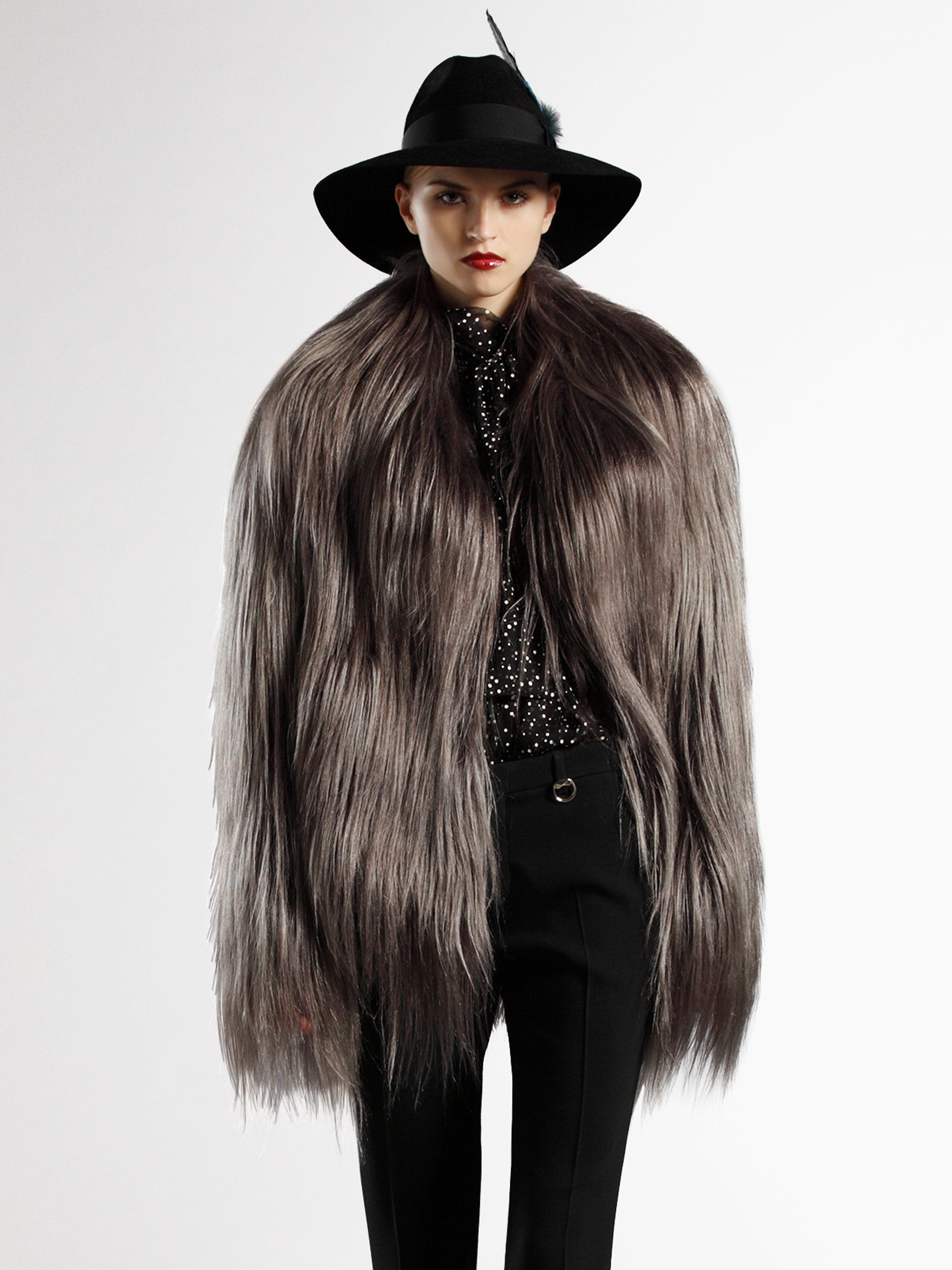 girls dressed in goat fur coats or jackets - Google Search | Furry ...