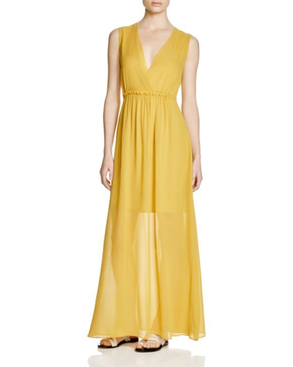 Reiss yellow maxi dress