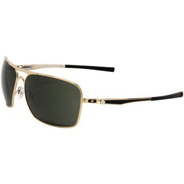 928c0e46e9b56 Oakley Plaintiff Squared Sunglasses - Polished Gold Dark Gray ...