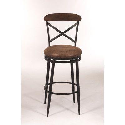 "Hillsdale Henderson 26"" Swivel Bar Stool with Cushion"