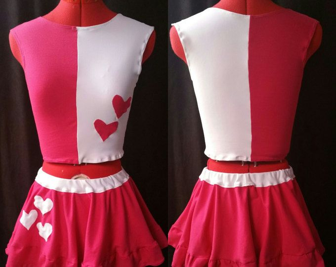 Harley Quinn Inspired Pink and White Outfit