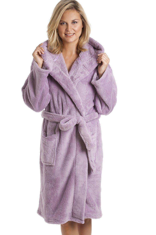 Robe de chambre à capuche polaire violet 46/48