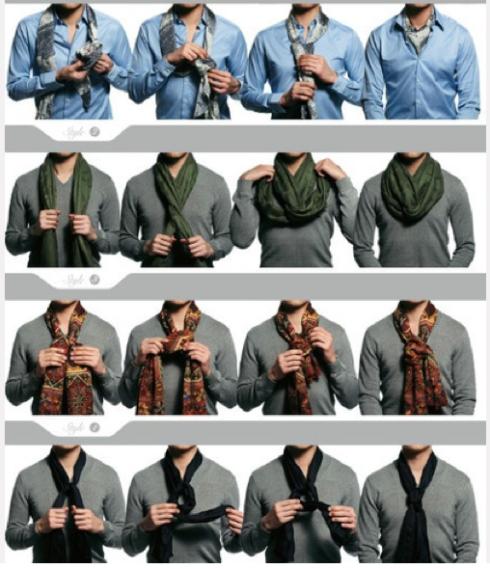 Como Usar Las Bufandas Bufandas Para Hombre Como Usar Bufanda Hombre Estilo De Ropa Hombre