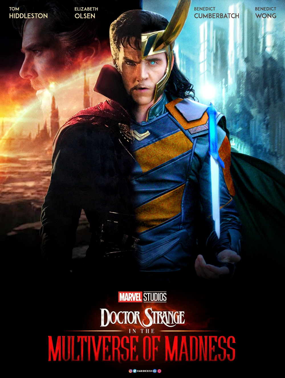 Artstation Dr Strange In The Multiverse Of Madness Hari Krish Marvel Superhero Posters Marvel Movie Characters Dr Strange Poster