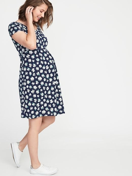 8d2683dfab Old Navy Women s Maternity Fit   Flare Ponte-Knit Dress Daisy Size XXL