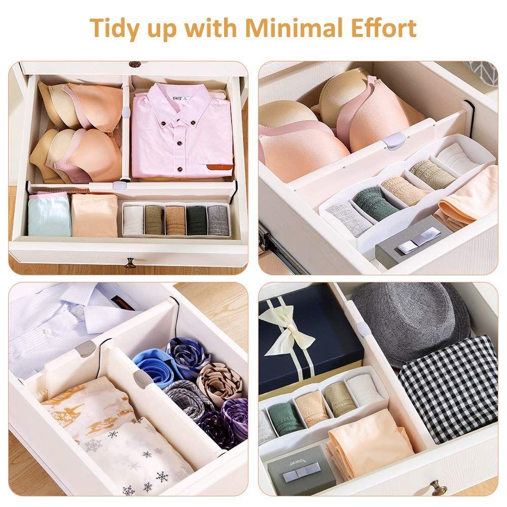 Aprata Drawer Dividers Adjustable Dresser Organizer Expandable