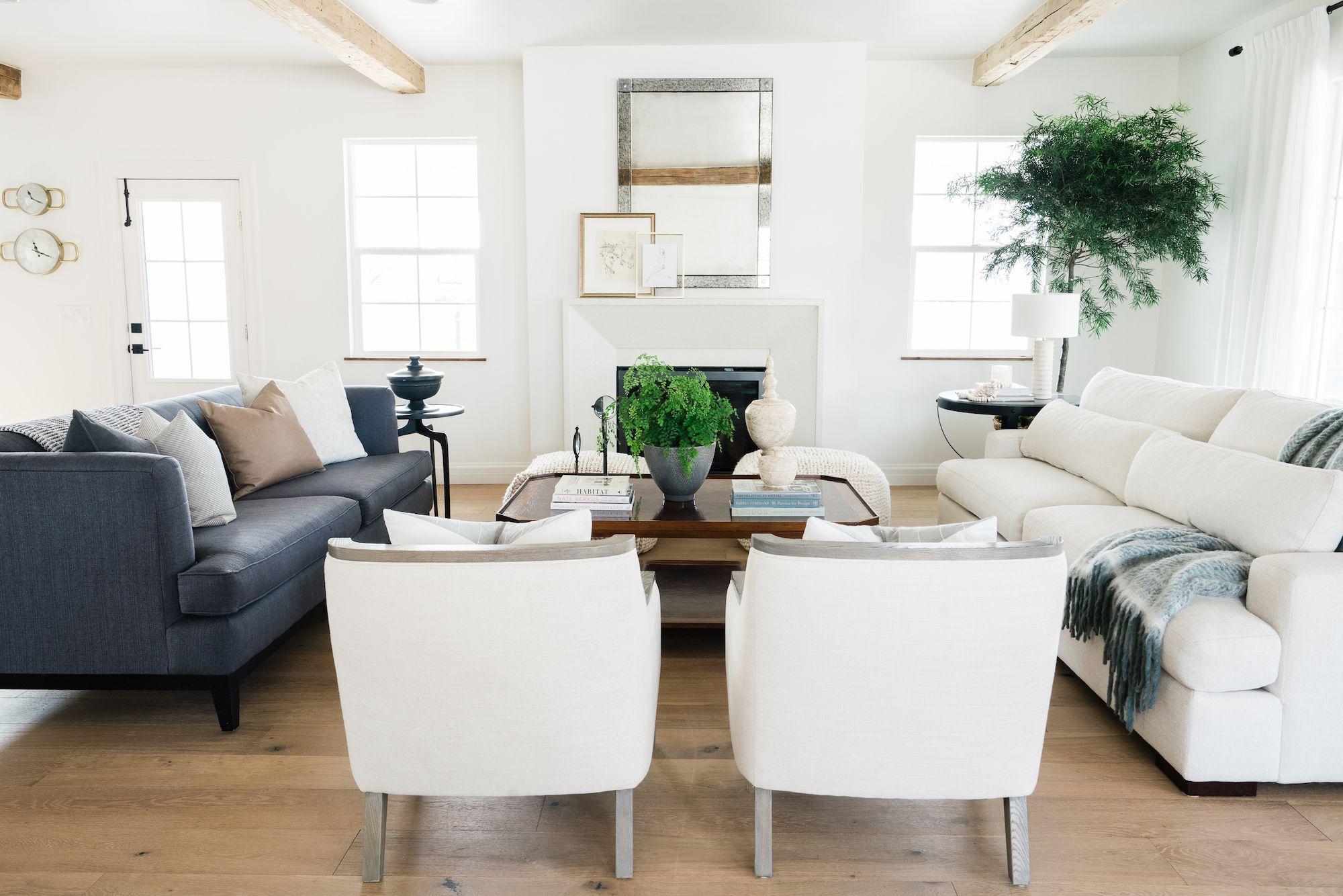 Sofa Pairing Tips House Of Jade Interiors Blog In 2020 Farm House Living Room Living Room Decor Neutral Living Room #two #different #sofas #in #living #room
