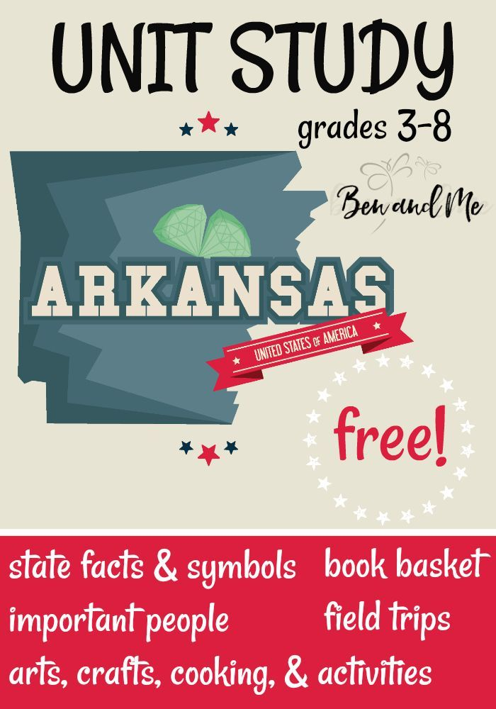 Free Arkansas Unit Study Pinterest Unit Studies Homeschool And