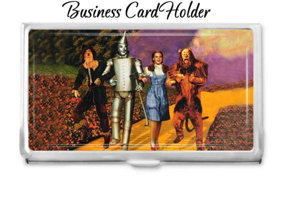 Wizard of oz group business card holder personalized card case wizard of oz group business card holder personalized card case business card case gift idea office supplies credit card holder reheart Images