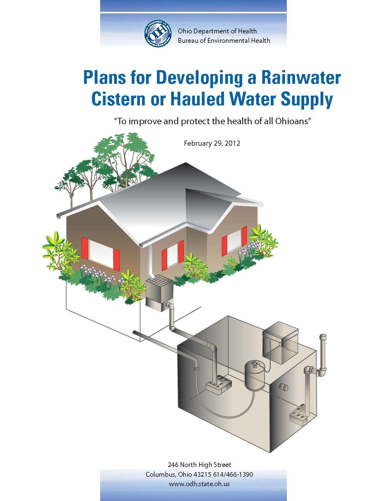 Rainwater Water Cistern Tanks Plans For Developing A Or