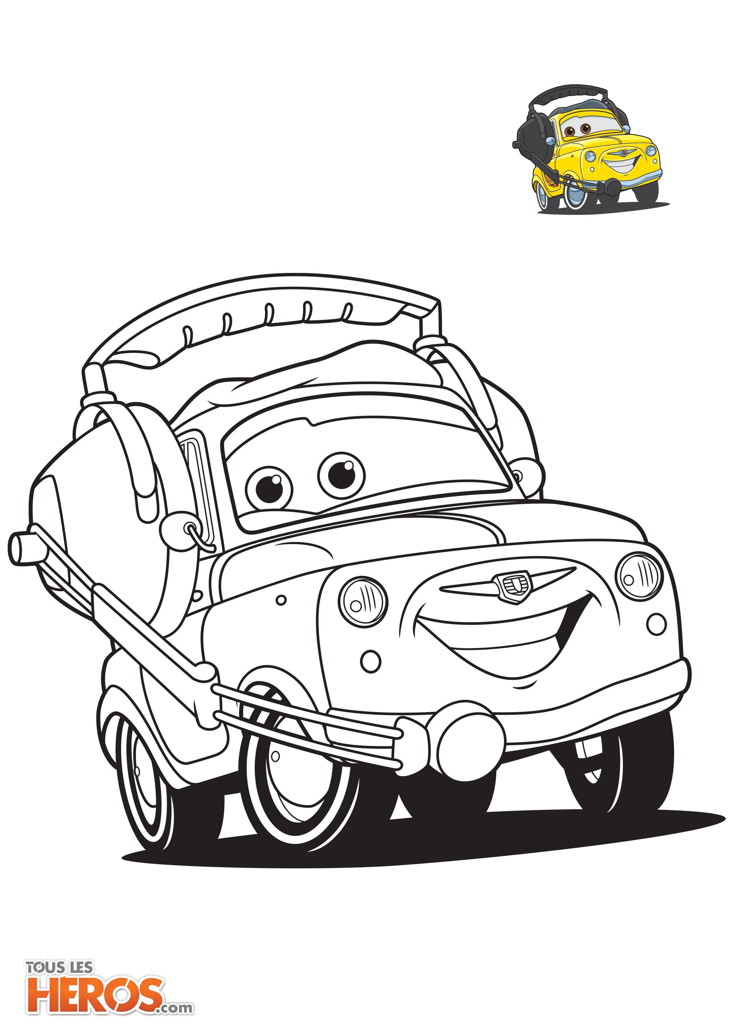T l chargez les coloriages cars sur coloriages de tlh pinterest - Coloriage la cars ...