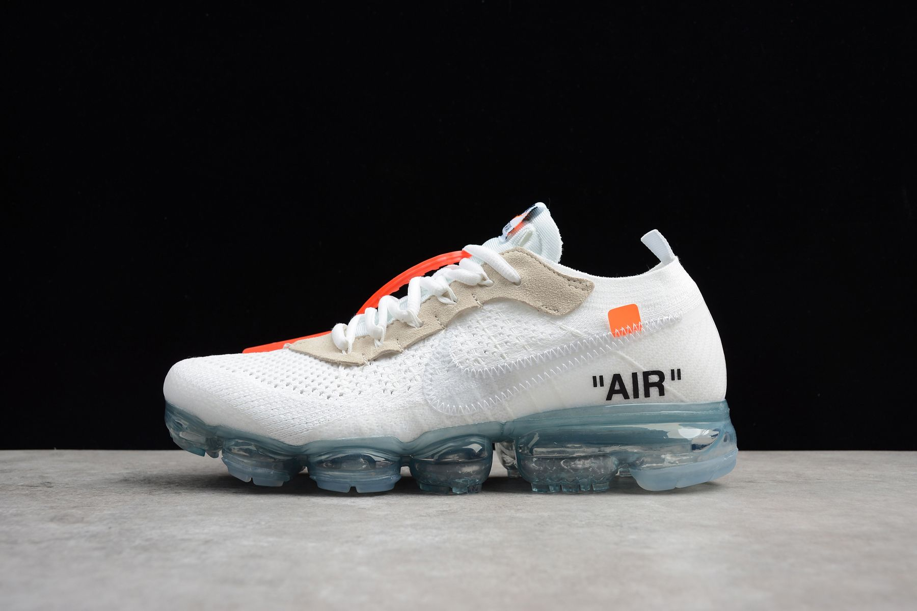 e8cbc7abc24 OFF WHITE x Nike Air VaporMax 2018 OW Flyknit White Women Men ...
