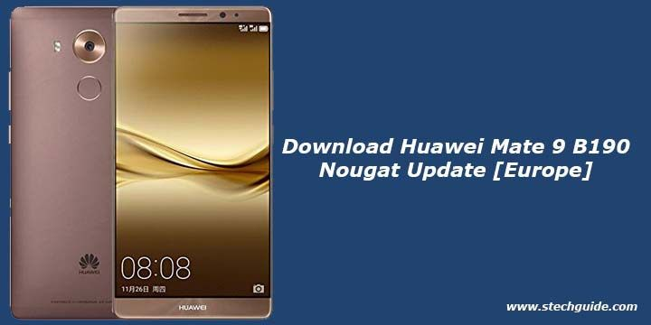 Now you can download and install the latest B190 Nougat Update on