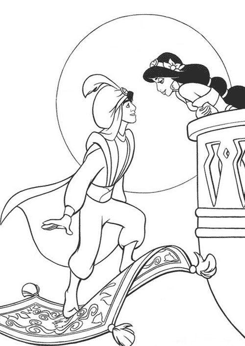 Aladino Pintar Dibujos Para Pintar Art Colorear Disney
