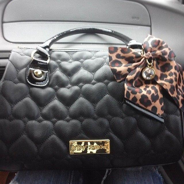 #betsyjohnson #purse #hearts #leopardprint #bow #blackandgold