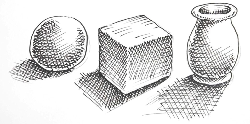 How to shade drawings with cross-hatching | Shading ...