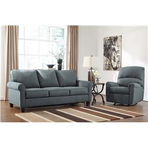 Signature Design By Ashley Zeth   Denim Stationary Living Room Group, That  Furniture Outletu0027s Minnesotau0027s