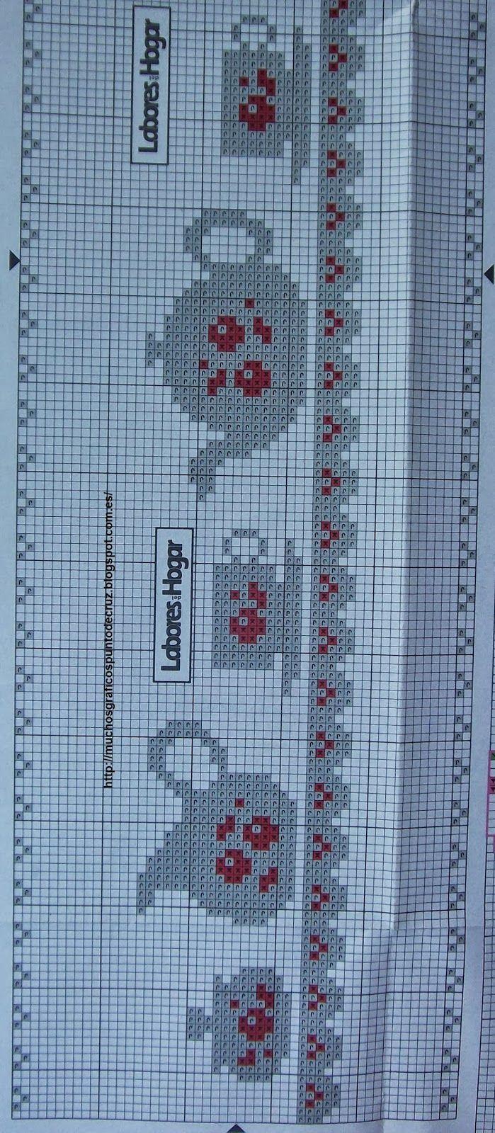 GRAFICOS PUNTO DE CRUZ GRATIS : TOALLAS,PAÑOS COCINA(40)   crochet ...