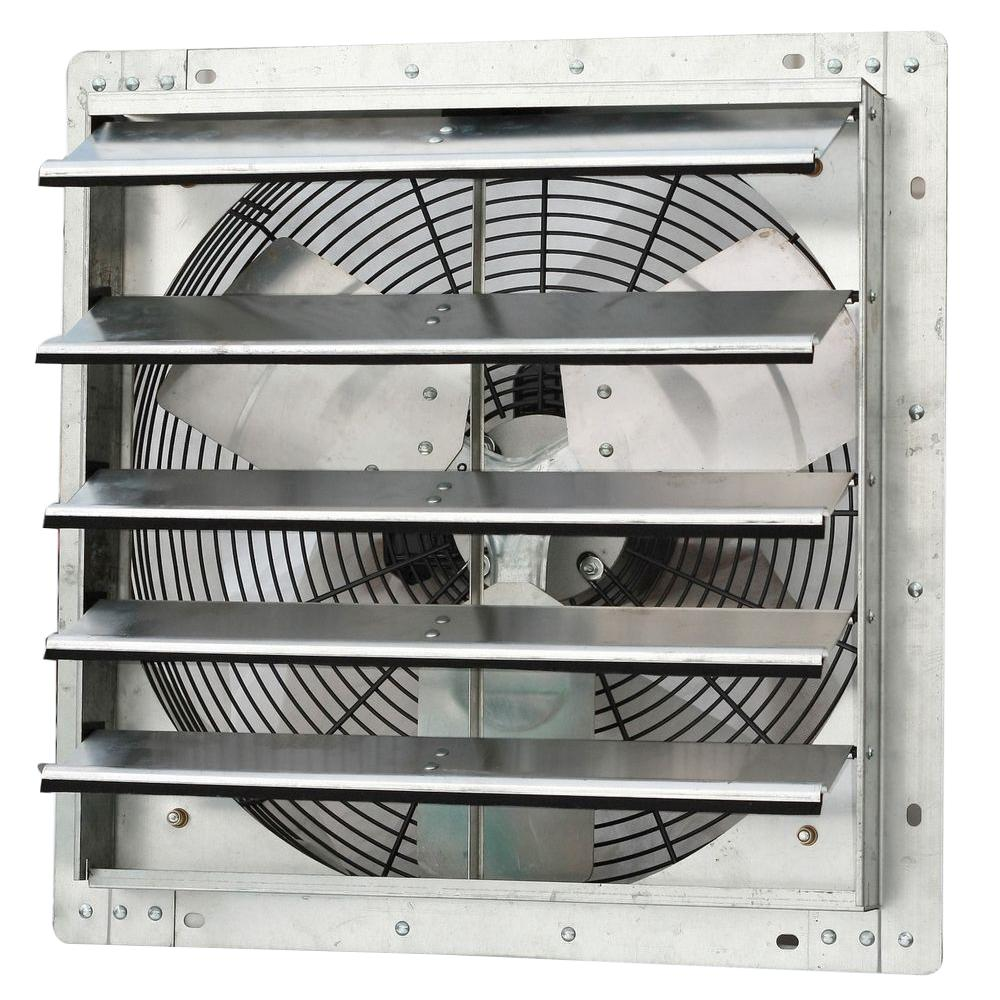 Iliving 1736 Cfm Silver Electric Powered Gable Mount Shutter Fan Vent Ilg8sf18v The Home Depot Wall Mounted Exhaust Fan Exhaust Fan Attic Fan