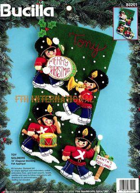 Bucilla Toy Soldiers 18 Felt Christmas Stocking Kit