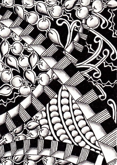 Zentangle by Jella of PaperArtStudio in Belgium.  Fabulous use of dimension!