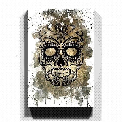 East Urban Home Mural Sugar Skull Tattoo |  -  Mural Sugar Skull Tattoo East Urban Home size: 50 cm