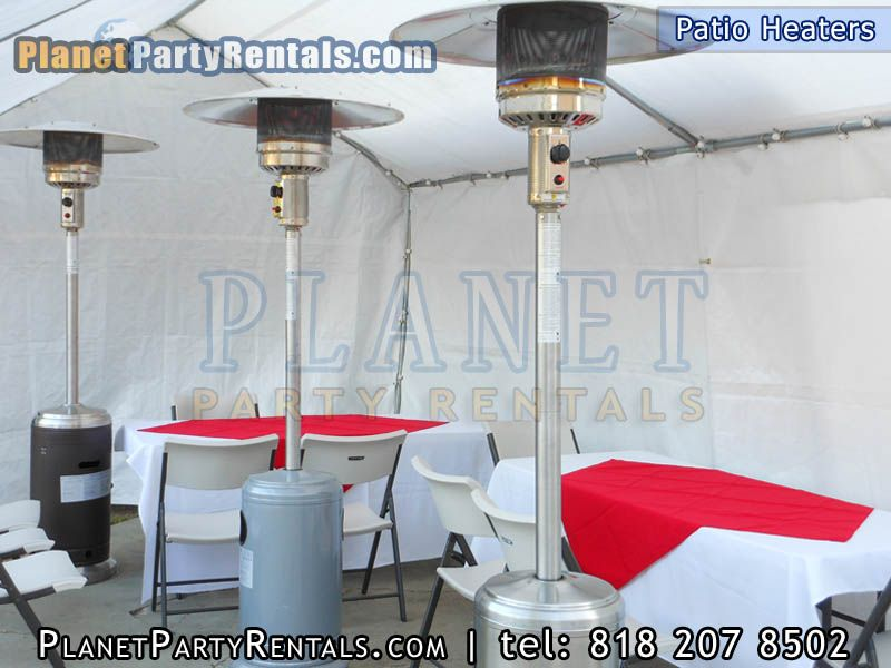 Outdoor Patio Heater Rentals includes Gas Propane Tank|Picture of Patio Heaters inside tent with & Outdoor Patio Heater Rentals includes Gas Propane Tank|Picture of ...