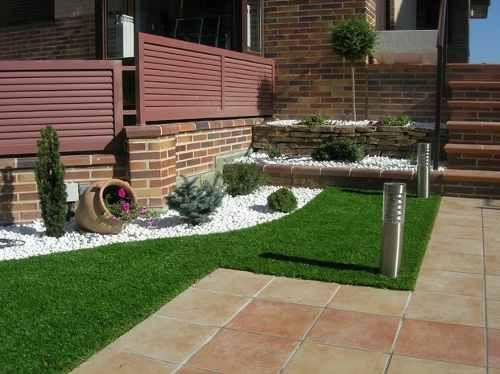 Decorar jardines con ladrillos buscar con google for Patios con piedras