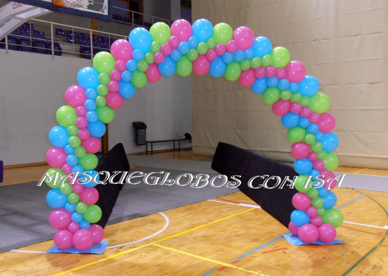 ARCO PLANO CON GLOBOS   bombad   Pinterest   Balloon columns and Paw ...
