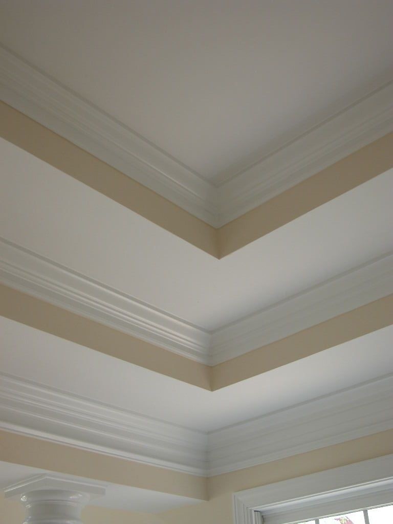 Double Tray Ceiling With Triple Crown Molding Too Much False Ceiling Bedroom False Ceiling Bedroom False Ceiling Design