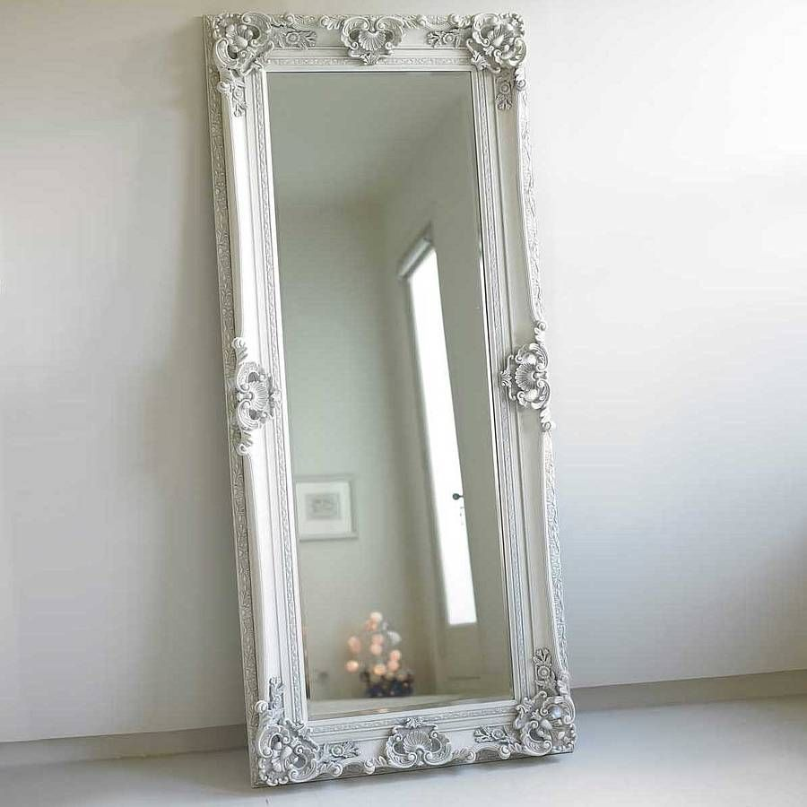 Ornate Wooden Mirror In Four Colours Floor Standing Mirror