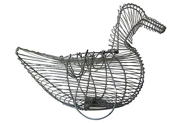 Wire Chicken Egg Basket on OneKingsLane.com