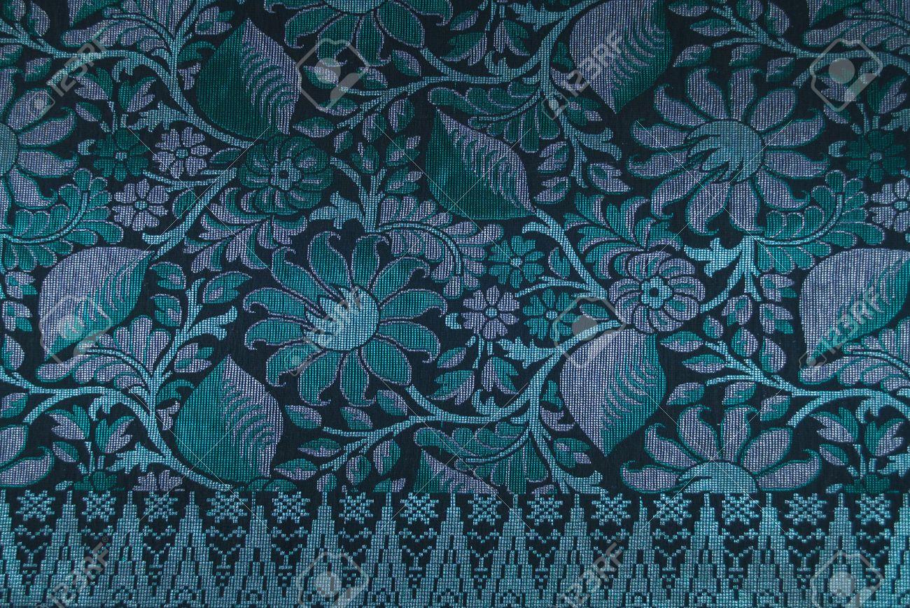 Malaysia Songket Woven Texture Fabric textile originally