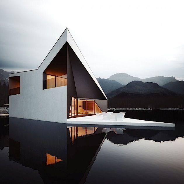 Crown House – Interessante Architektur im Gebirgssee | KlonBlog #arquitectonico