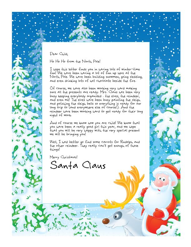 Easy Free Letter from Santa Magical Package Christmas! Christmas