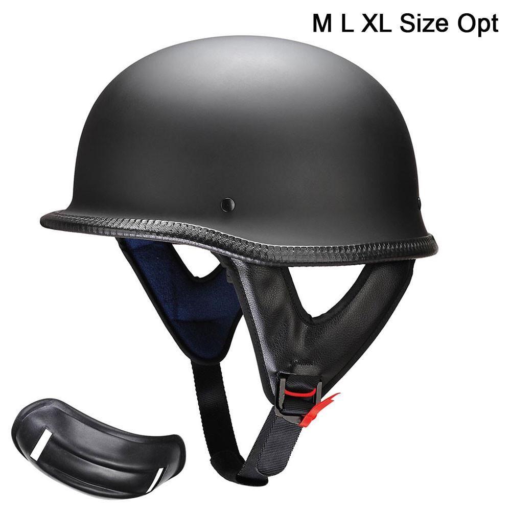 GIFT Motorcycle German Style Half Face Helmet Chopper DOT Cruiser Biker