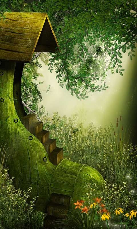Fantasy world little house android wallpapers htc t mobile g2 g1 wallpapers free download - Fairy wallpaper for android ...