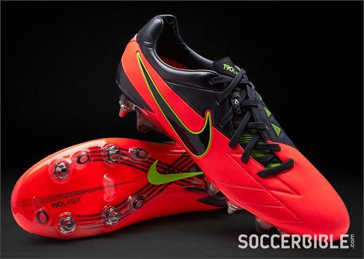 Nike T90 Laser IV ACC Football Boots - Crimson/Black - http://