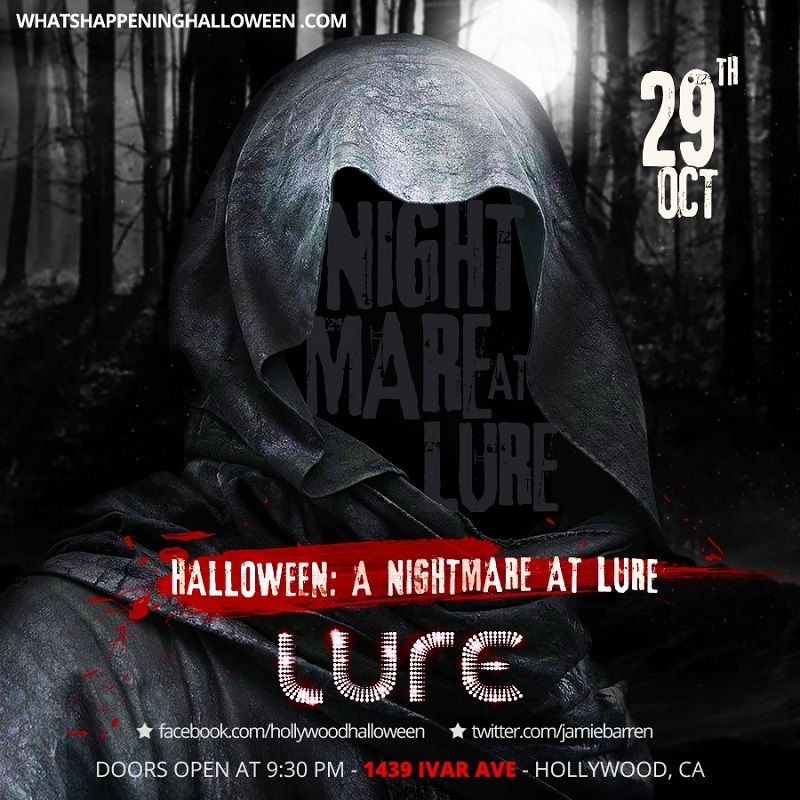 Nestled In The Heart Of Hollywood Lure Nightclub Is A Nocturnal Pleasure Palace Boasting The Nightmare A Halloween Party Events Halloween Event Halloween Club