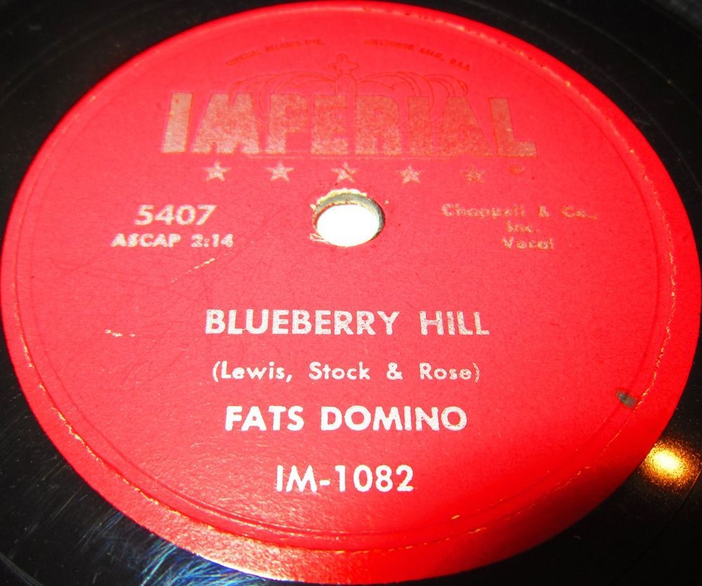 Rare 1956 78 Rpm Fats Domino Blueberry Hill Honey Chile On Imperial 5407 The Most Popular Exponent Of The Classic Ne Songwriting Vinyl Records Boogie Woogie