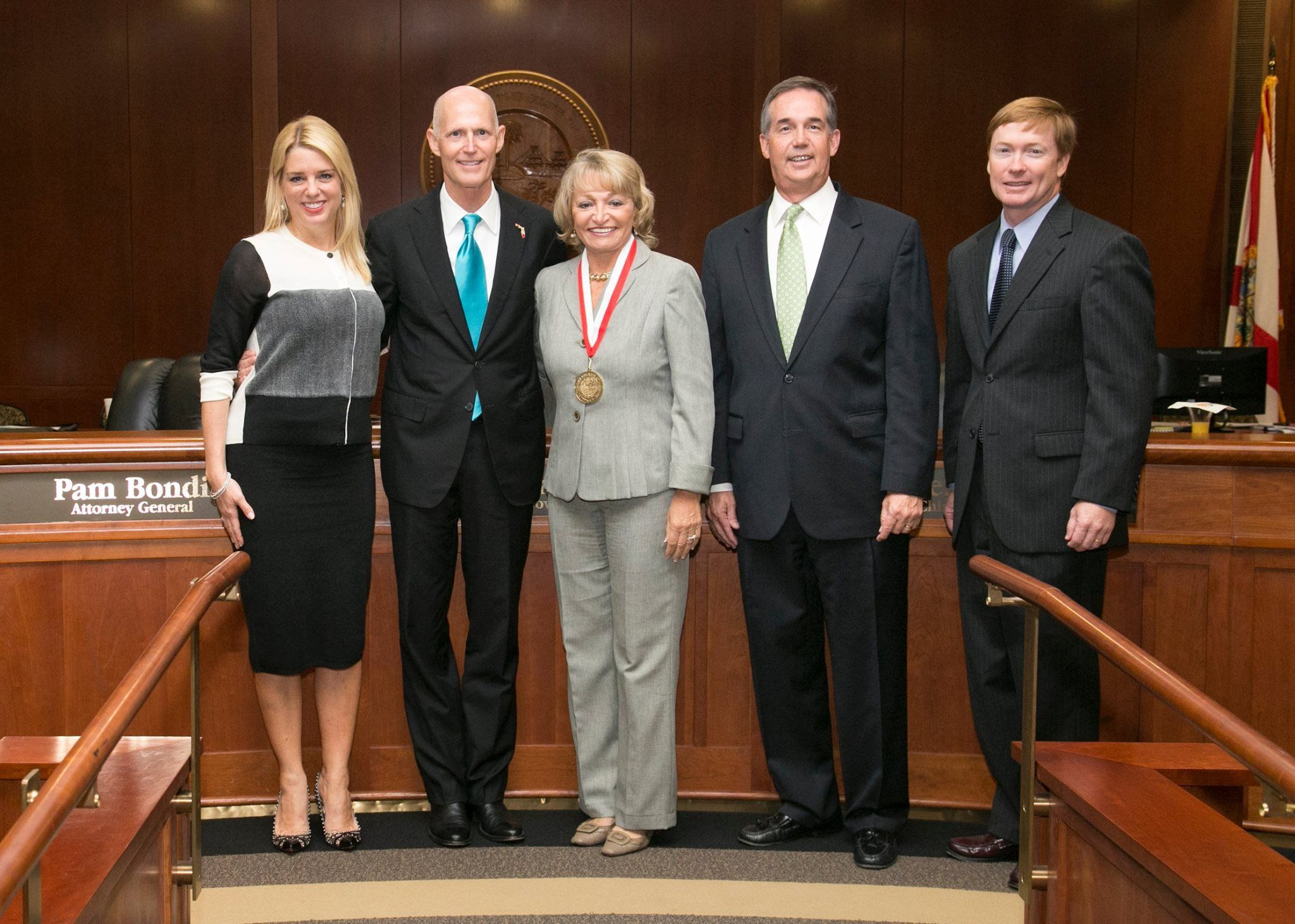 At Yesterdayu0027s Florida Cabinet Meeting Receiving The Governoru0027s Business  Ambassador Award. Seen Here With State