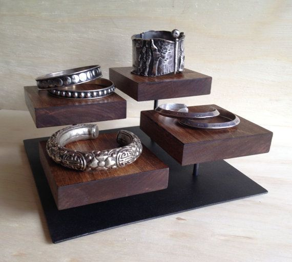 Bracelet display riser jewelry display ring display for Craft show jewelry display