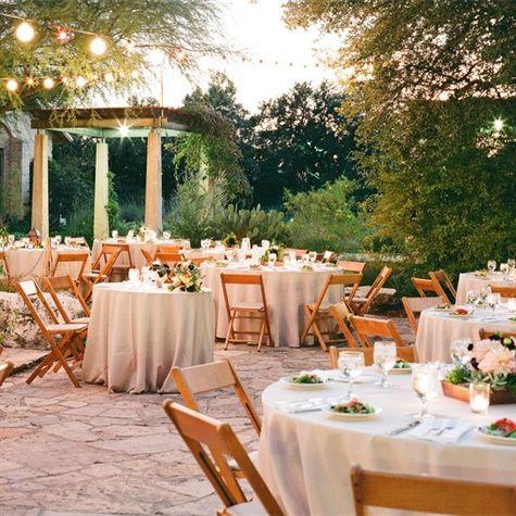 Vintage Rustic Wedding Outdoors Reception Ladybird Johnson Wildflower Center
