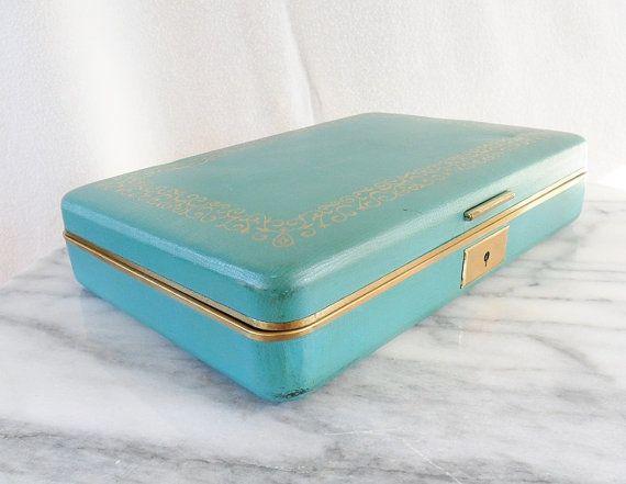 Teal Farrington Jewelry Box Vintage on Etsy 2000 My NotSo