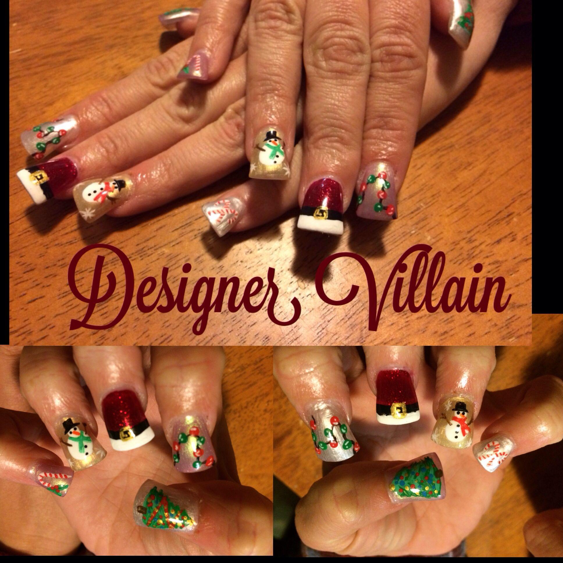 Christmas Nails | Nail designs | Pinterest | Nail nail, Fun nails ...