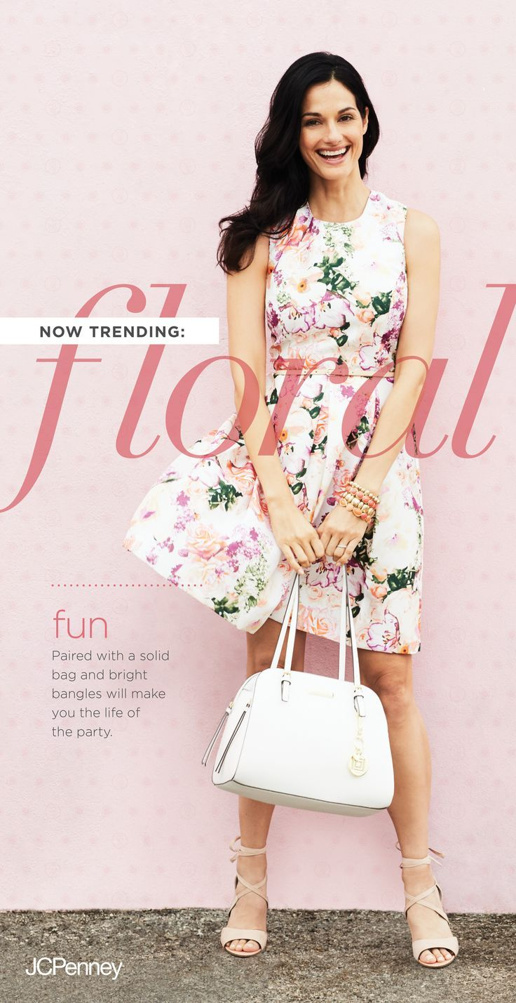 A-line floral print dress is a must spring outfit or Easter outfit ...