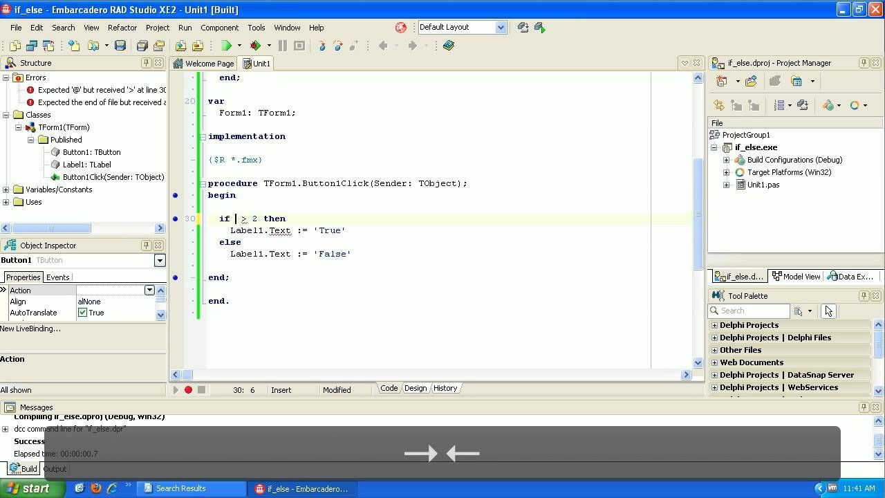 Learning to Program Delphi Tutorial If then else | Alpha Rayaneh